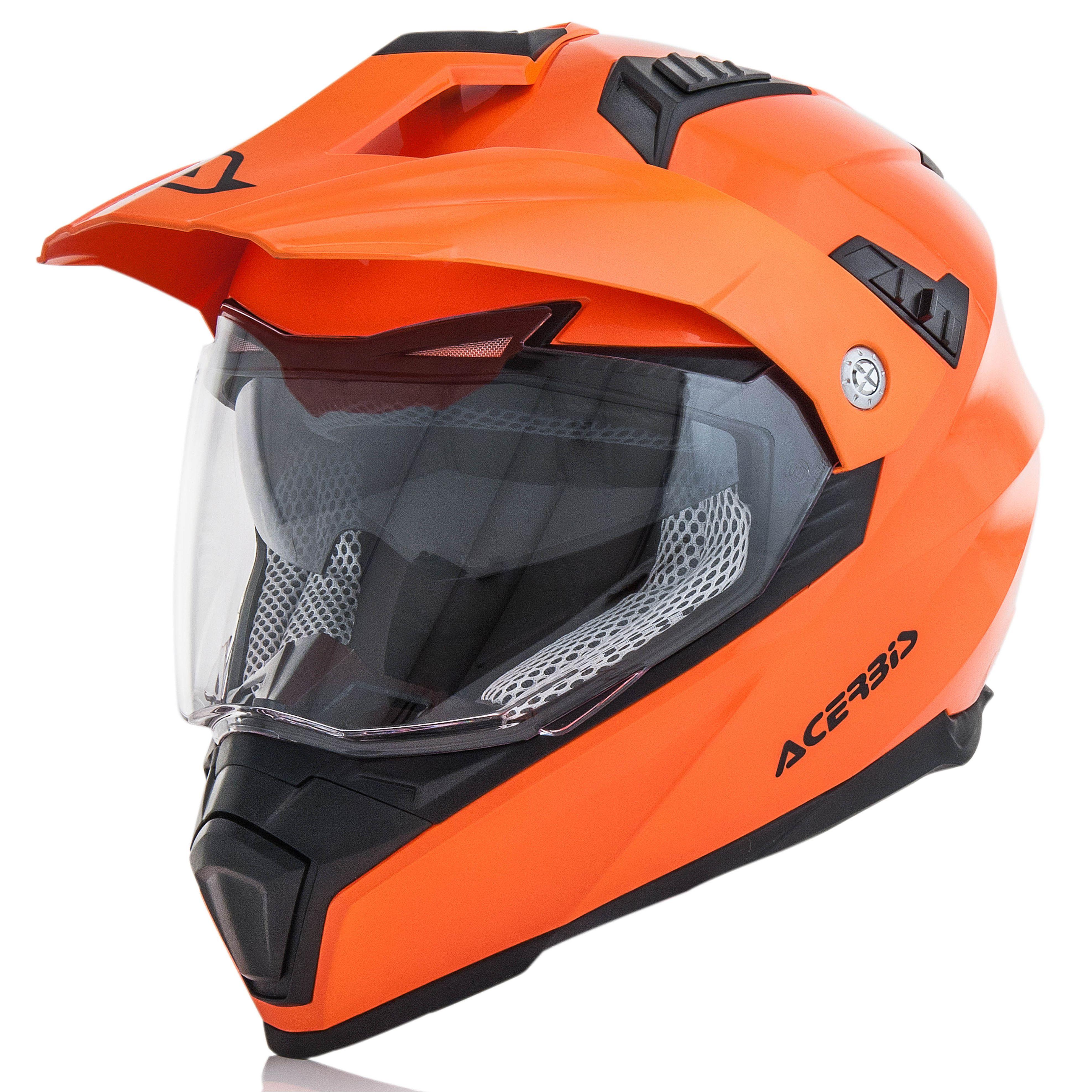 Casco De Motocross Acerbis Flip Fs 606 Naranja Fl 218 Or