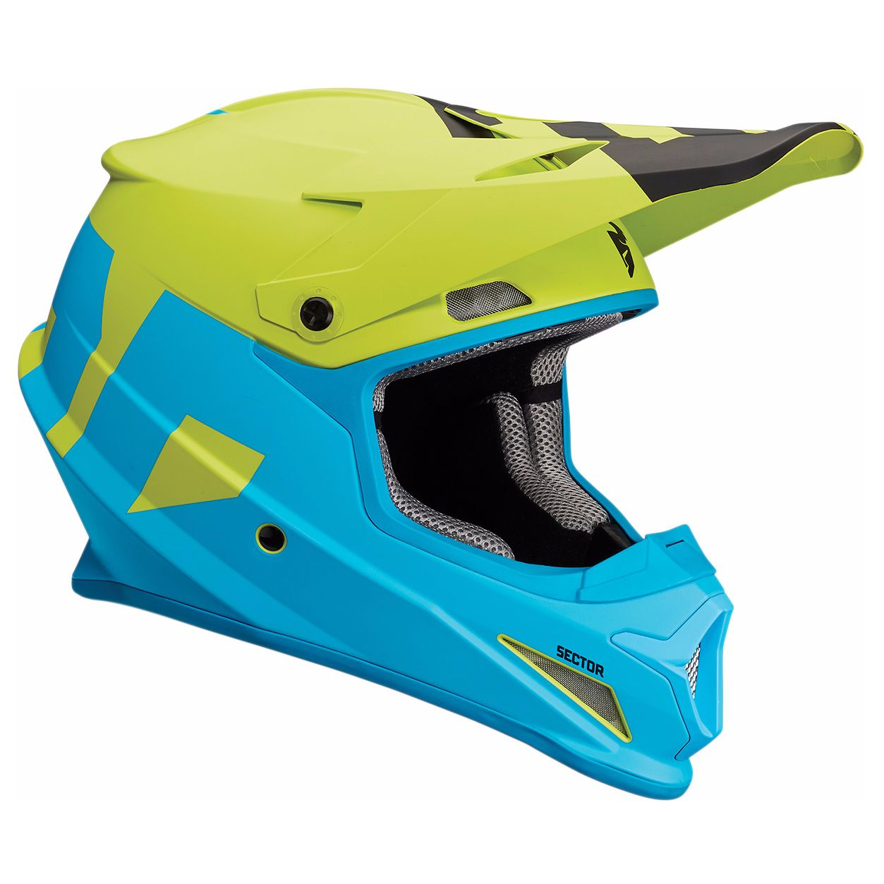 Casco de motocross Thor SECTOR - LEVEL - MATE AZUL VERDE 2018