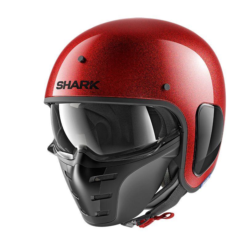 casque shark s drak glitter glossy cascos jet. Black Bedroom Furniture Sets. Home Design Ideas