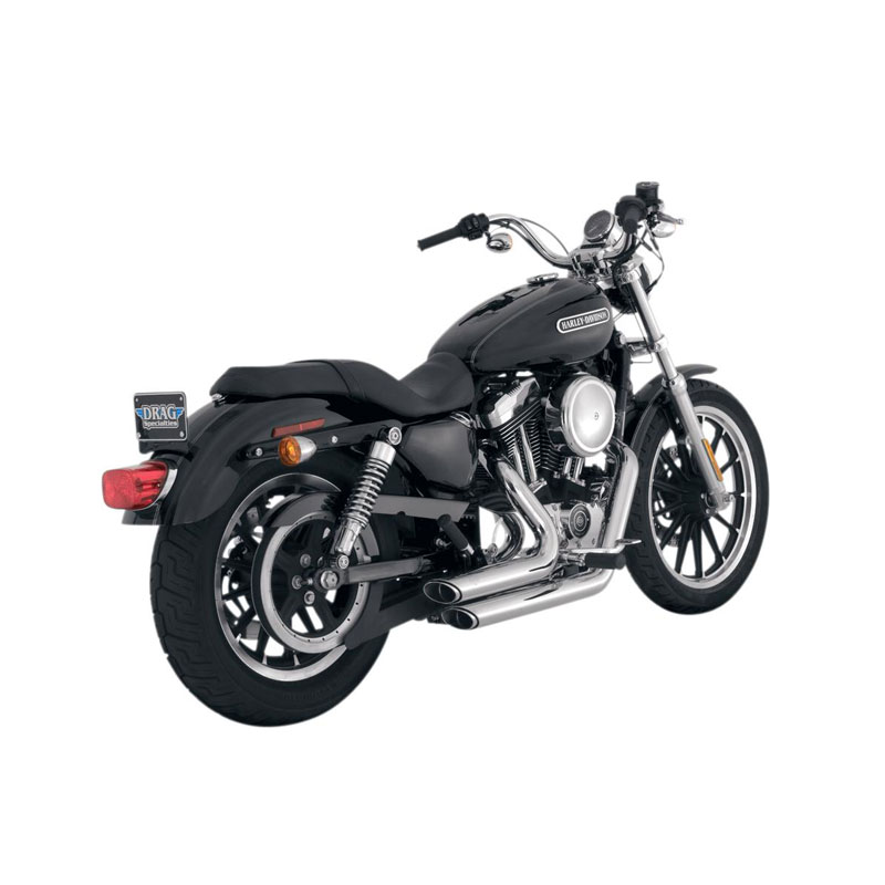 Lí­nea completa Vance & Hines Shortshots Staggered chrome