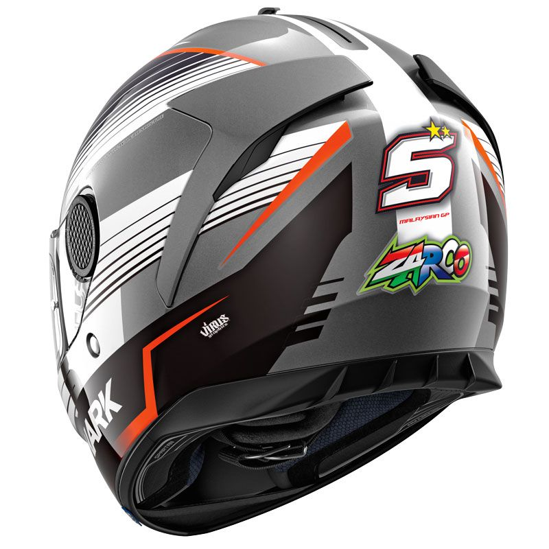 casco shark spartan 1 2 replica zarco malaysian gp cascos integrales. Black Bedroom Furniture Sets. Home Design Ideas
