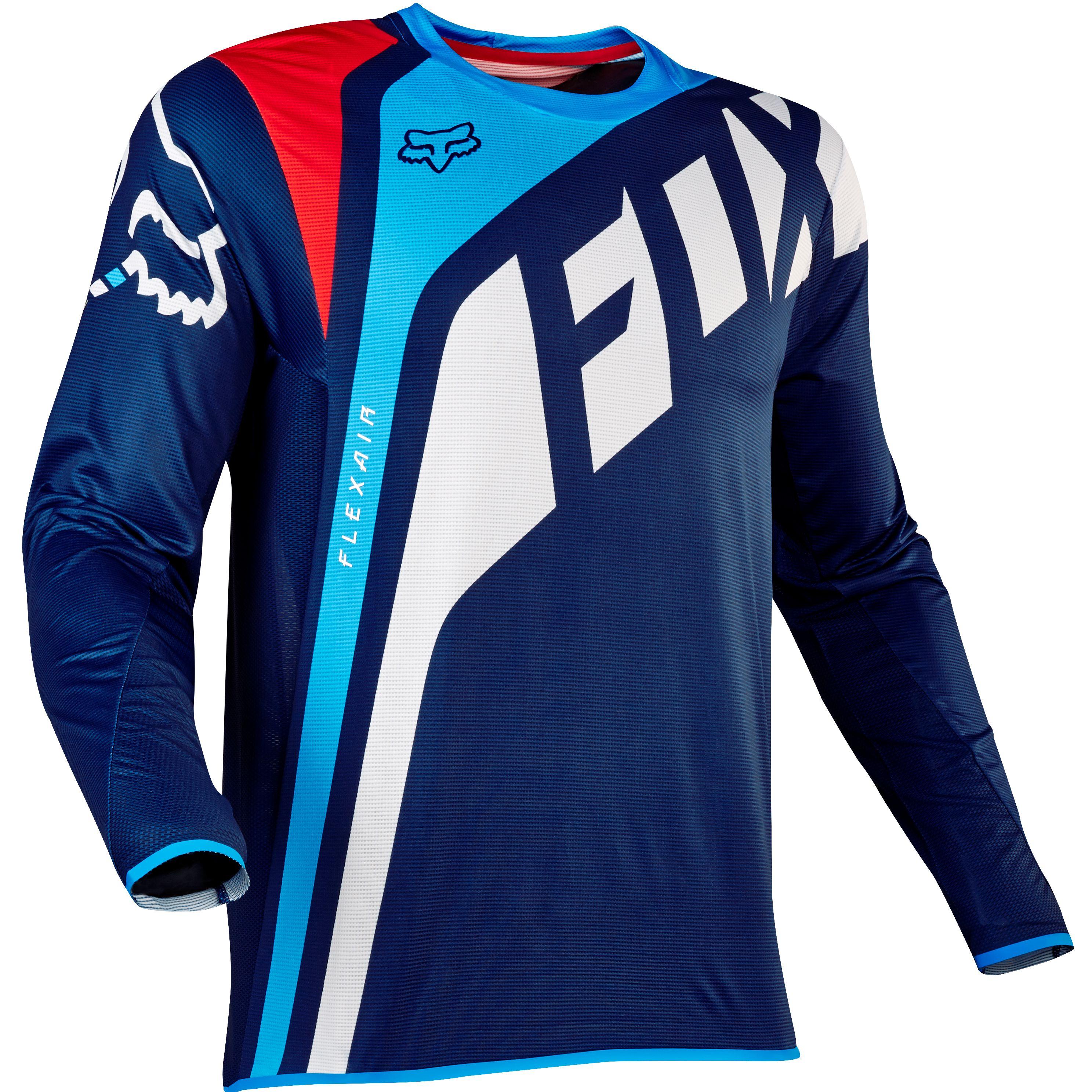 Fox Flexair Seca Jersey Talla S Color Azul