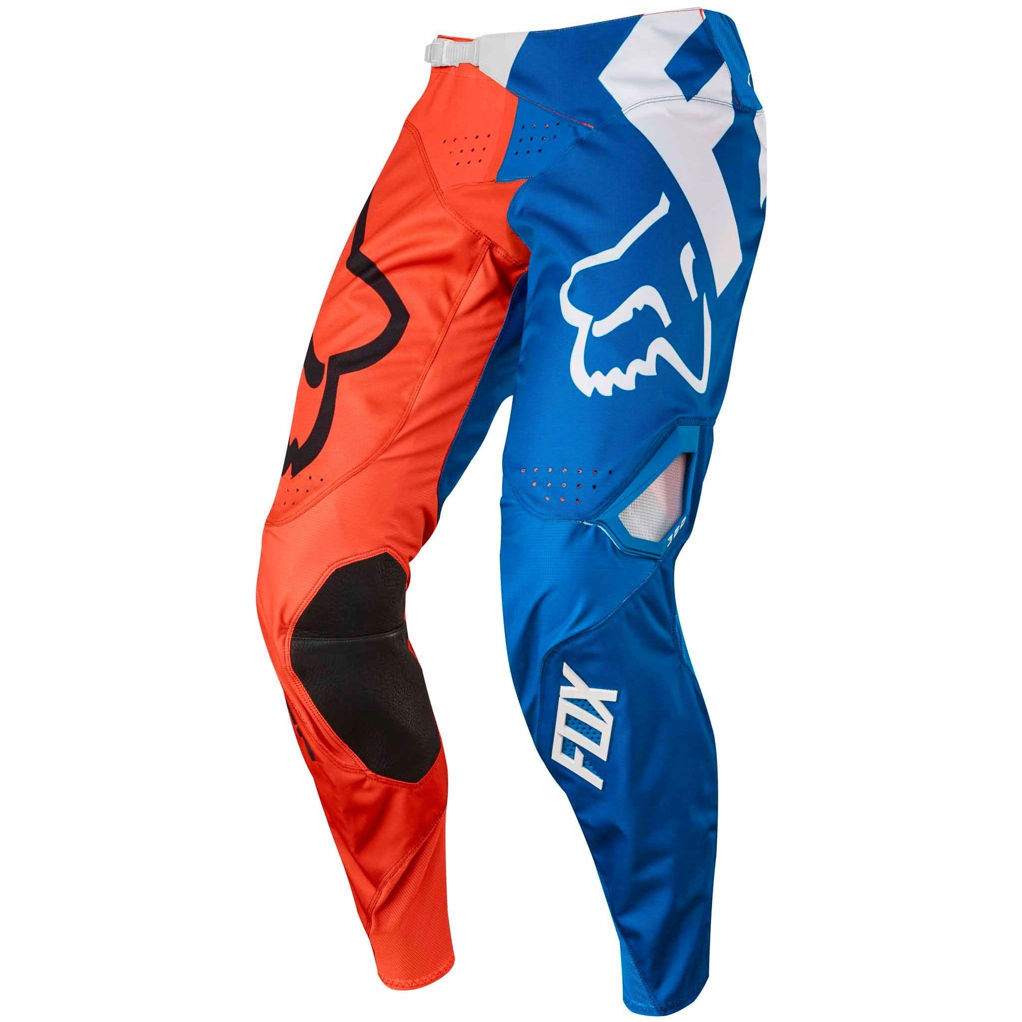 Pantalon De Motocross Fox Outlet 360 Youth Creo Blanco Amarillo Equipacion Off Road Piloto Motoblouz Es