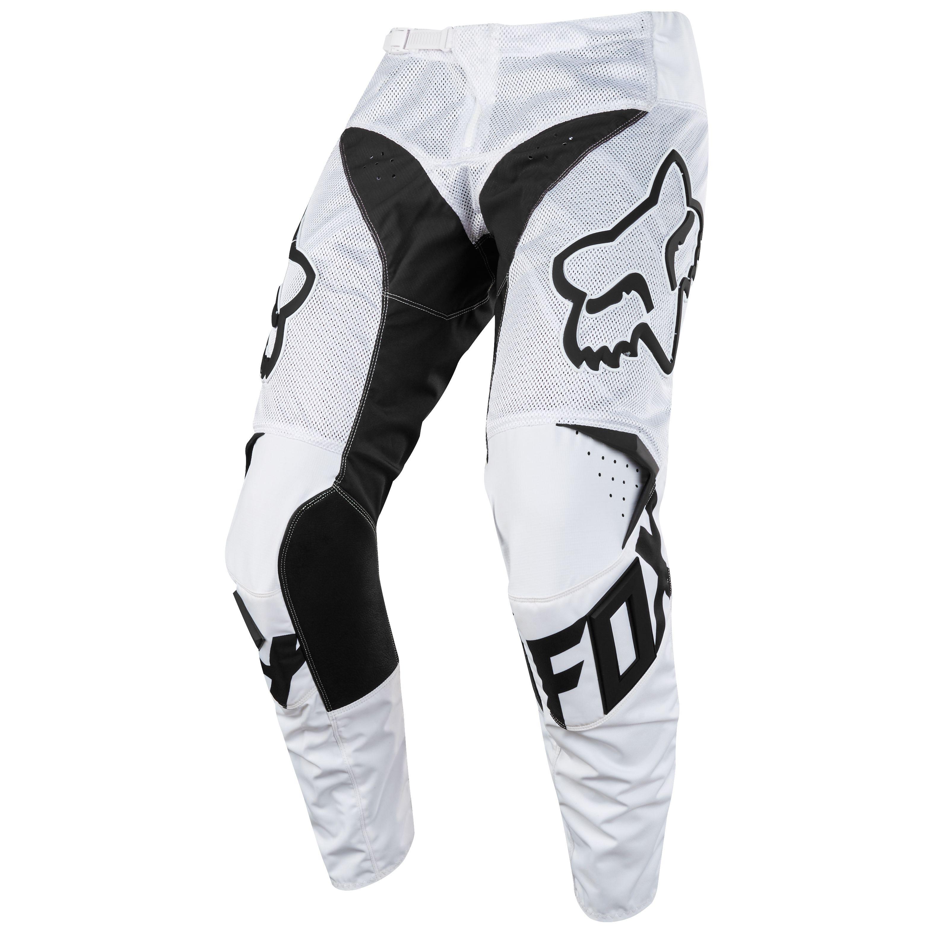 Pantalon De Motocross Fox Destockage 180 Mastar Airline Blanco 2018 Blanco Motoblouz Es