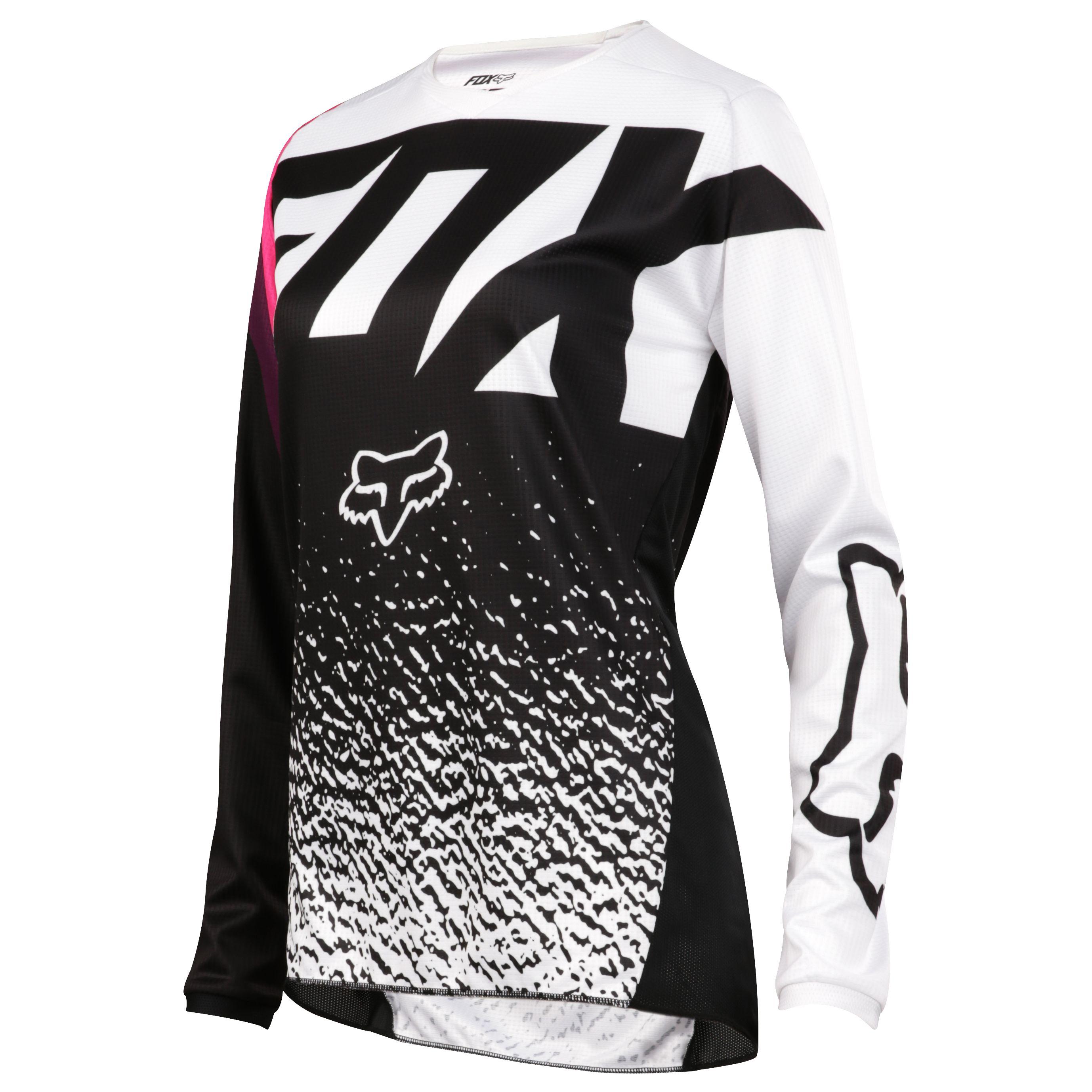 Camiseta de motocross Fox 180 YOUTH GIRLS - NEGRO ROSA ... 50a8a5f9ec7