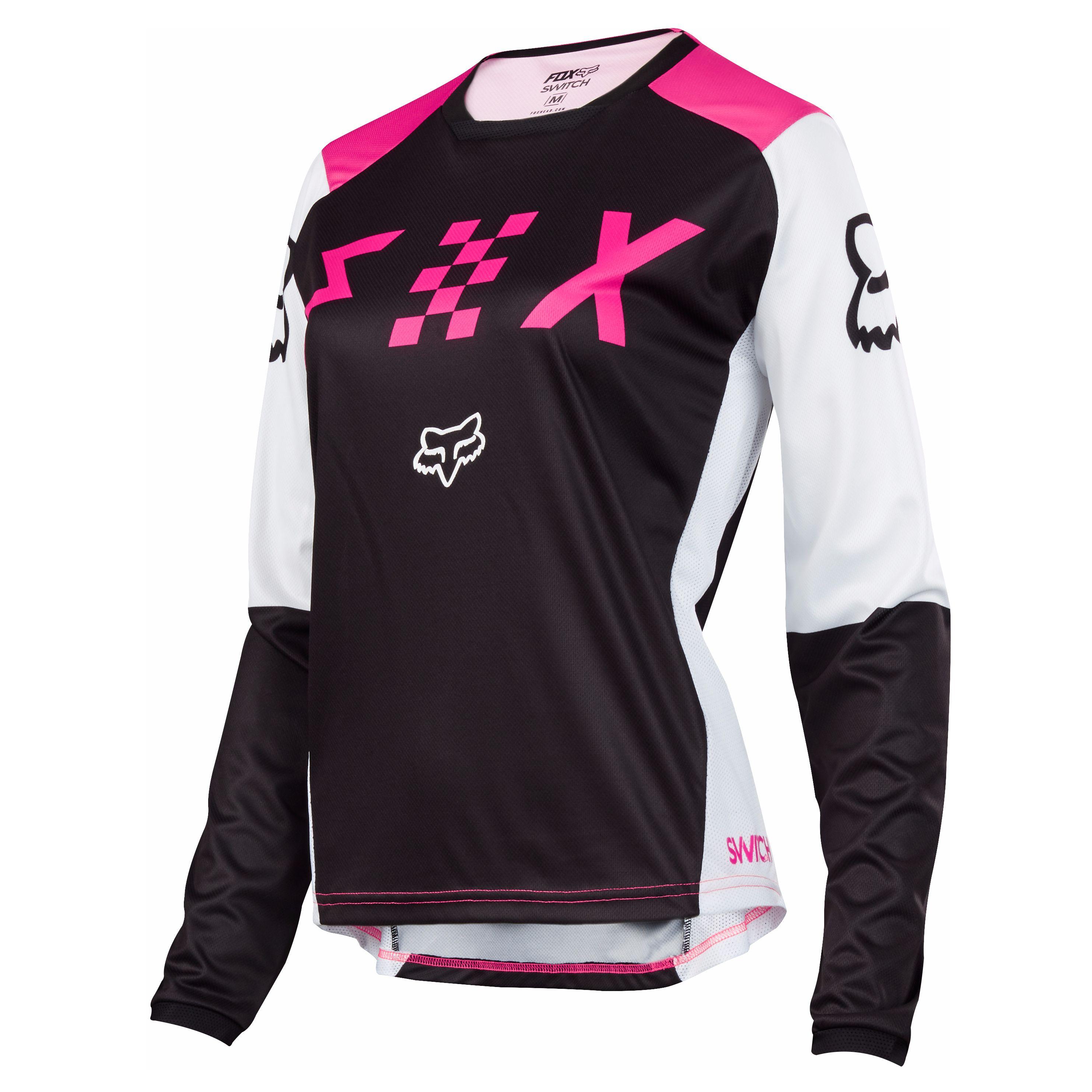 Camiseta de motocross Fox WOMAN SWITCH - NEGRO ROSA- 2018 - Motoblouz.es 7ff52fd9e19