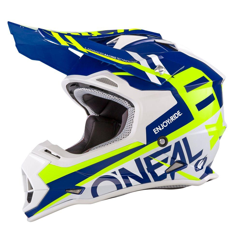 99805a68009c7 Casco de motocross O Neal 2 SERIES RL SPYDE - AZUL AMARILLO FLÚOR - 2019