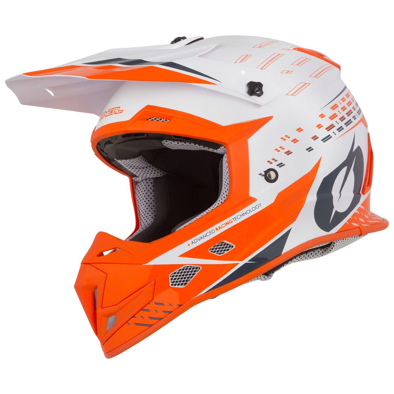 44db7204067ce Casco de motocross O Neal 5 SERIES - TRACE - WHITE ORANGE 2019 ...