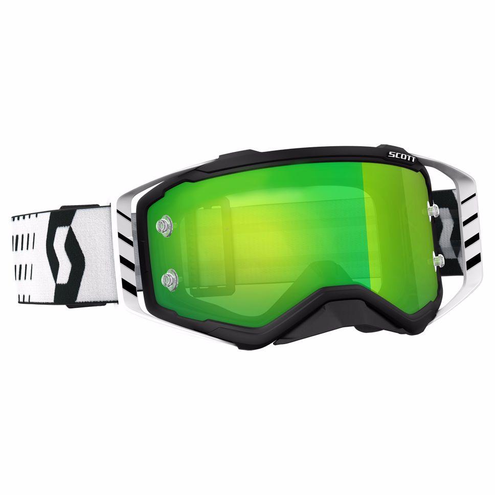 Gafas de motocross Scott PROSPECT - NEGRO BLANCO - PANTALLA IRIDIUM ...