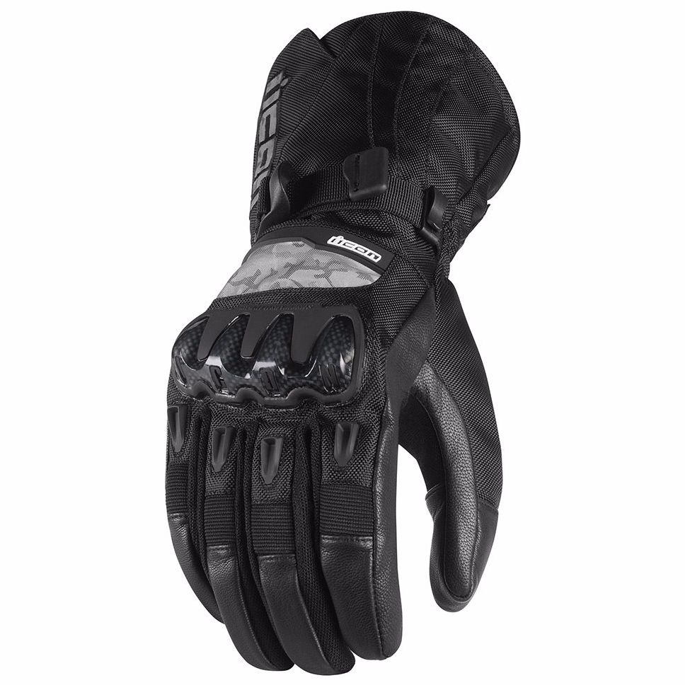 High Top textil Guantes, color Negro, talla 39