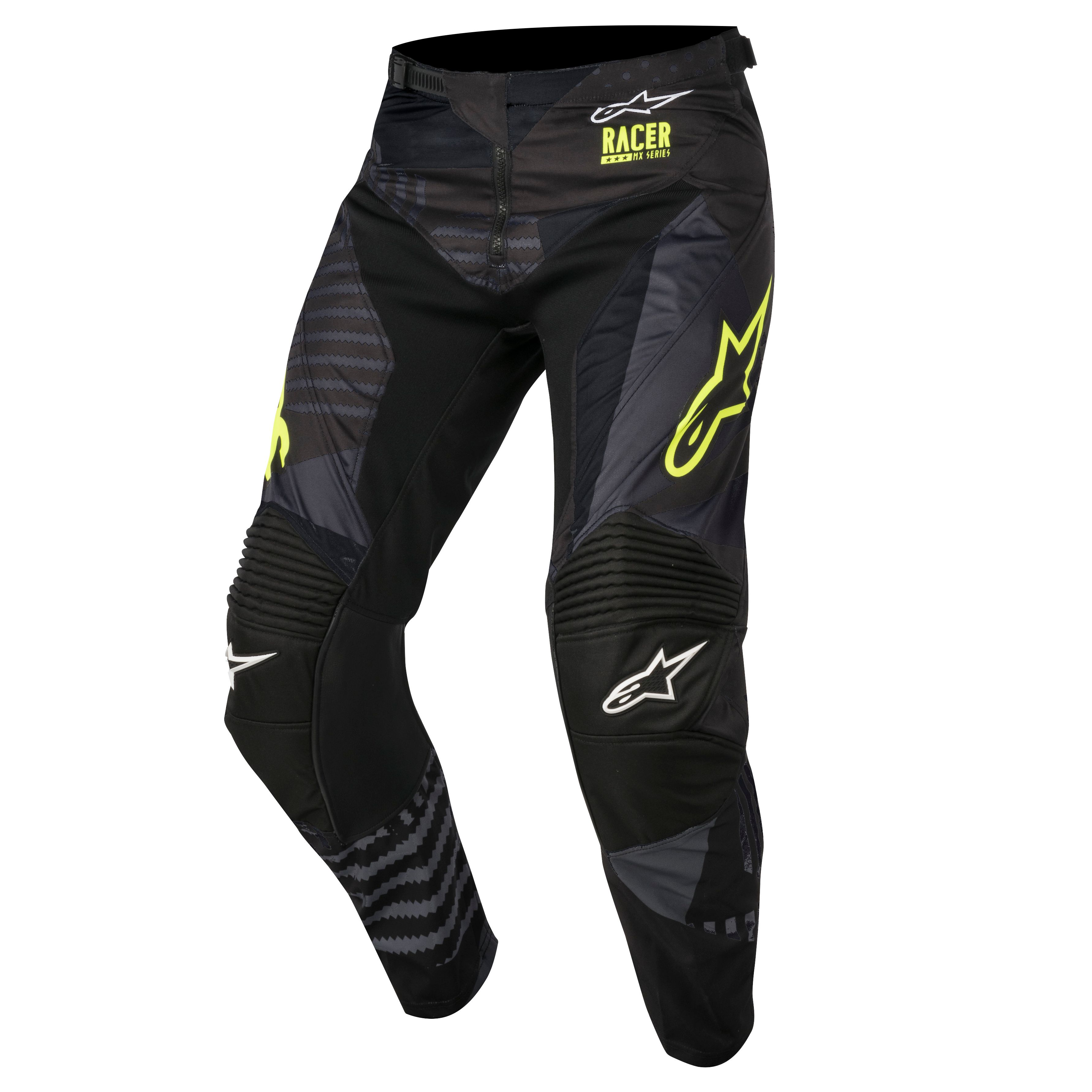 Pantalon De Motocross Alpinestars Racer Tactical Negro Amarillo Fluor 2018 Motoblouz Es