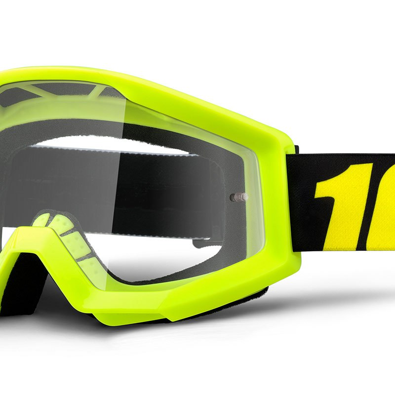 Gafas de motocross 100% STRATA YOUTH - NEON YELLOW CLEAR LENS