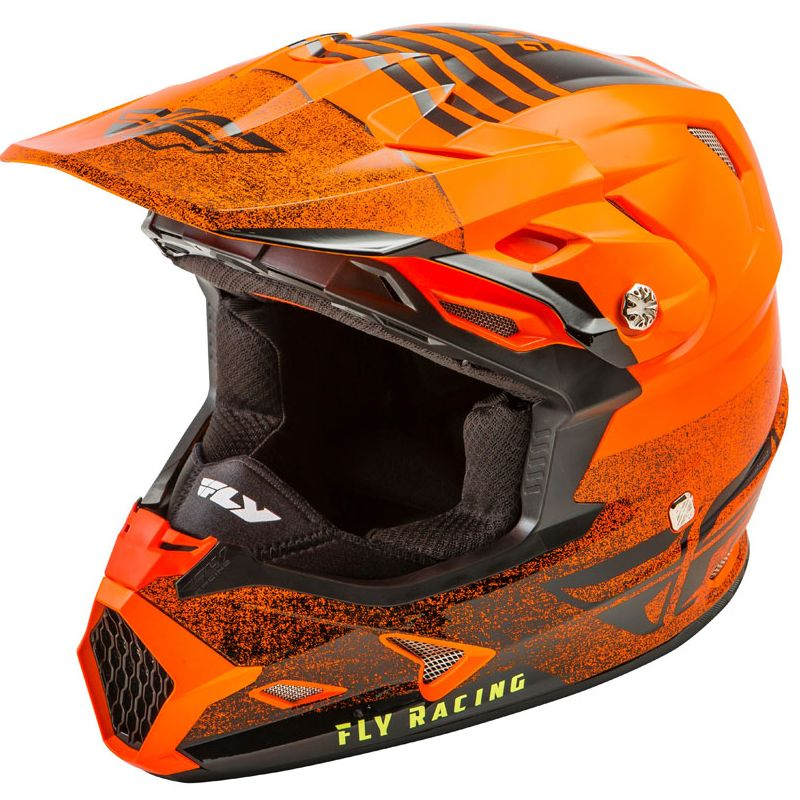 Casco de motocross Fly TOXIN MIPS - EMBARGO - NEON ORANGE BLACK 2019
