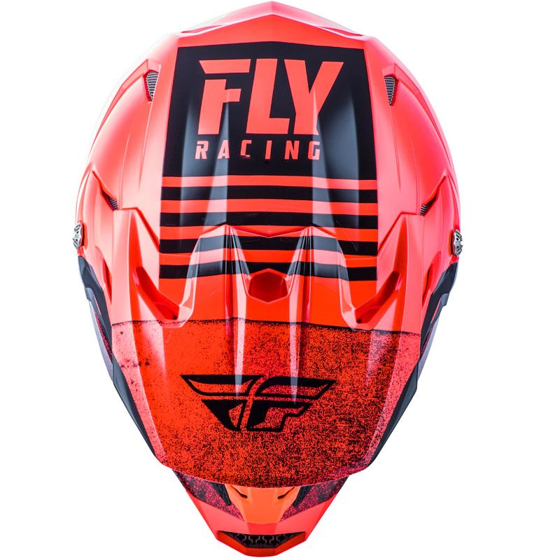 Casco de motocross Fly KID TOXIN MIPS - EMBARGO - NEON RED