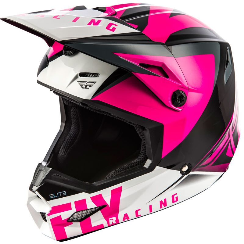 Casco de motocross Fly ELITE - VIGILANT - PINK BLACK 2019