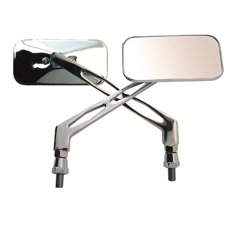 Espejo retrovisor Chaft CUSTOM RECTANGULAR CHROME DERECHO