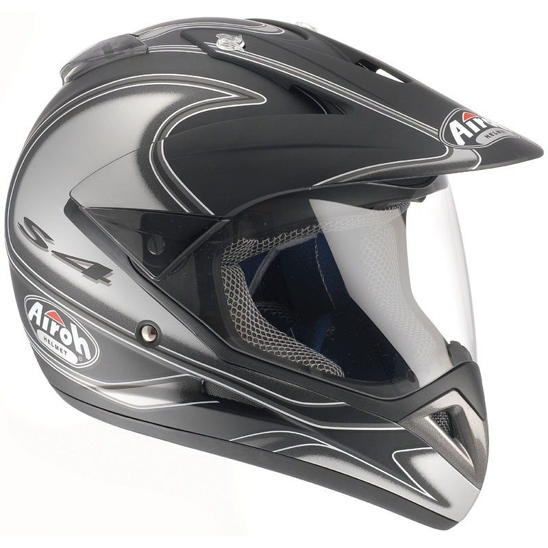 Casco de motocross Airoh outlet QUAD S4 DECO REDONDO