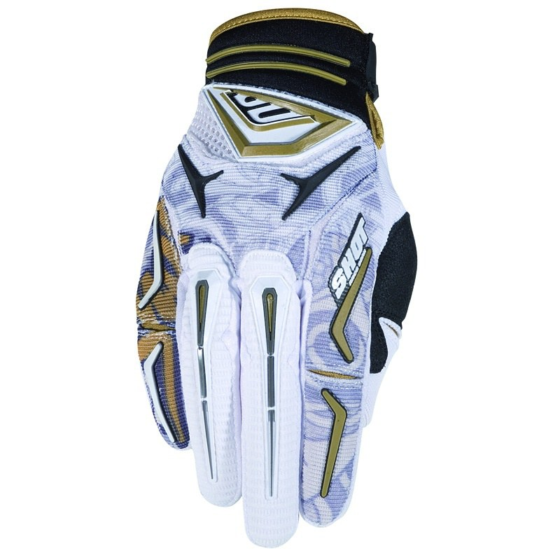 Guantes de motocross Shot outlet FLEXOR HIRO BLANCO 2011