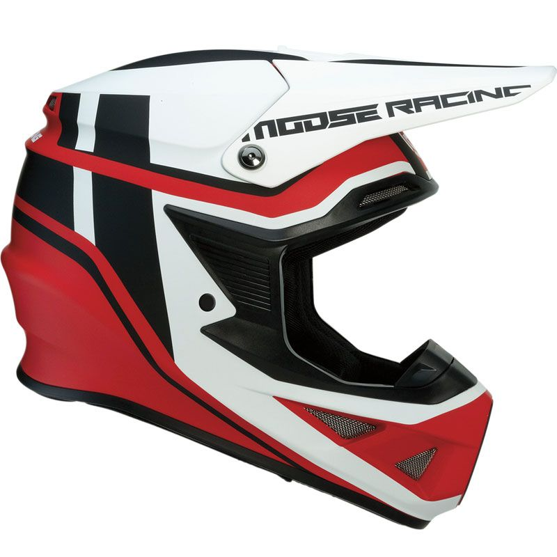 Casco de motocross Moose Racing F.I SESSION ROJO/BLANCO 2019