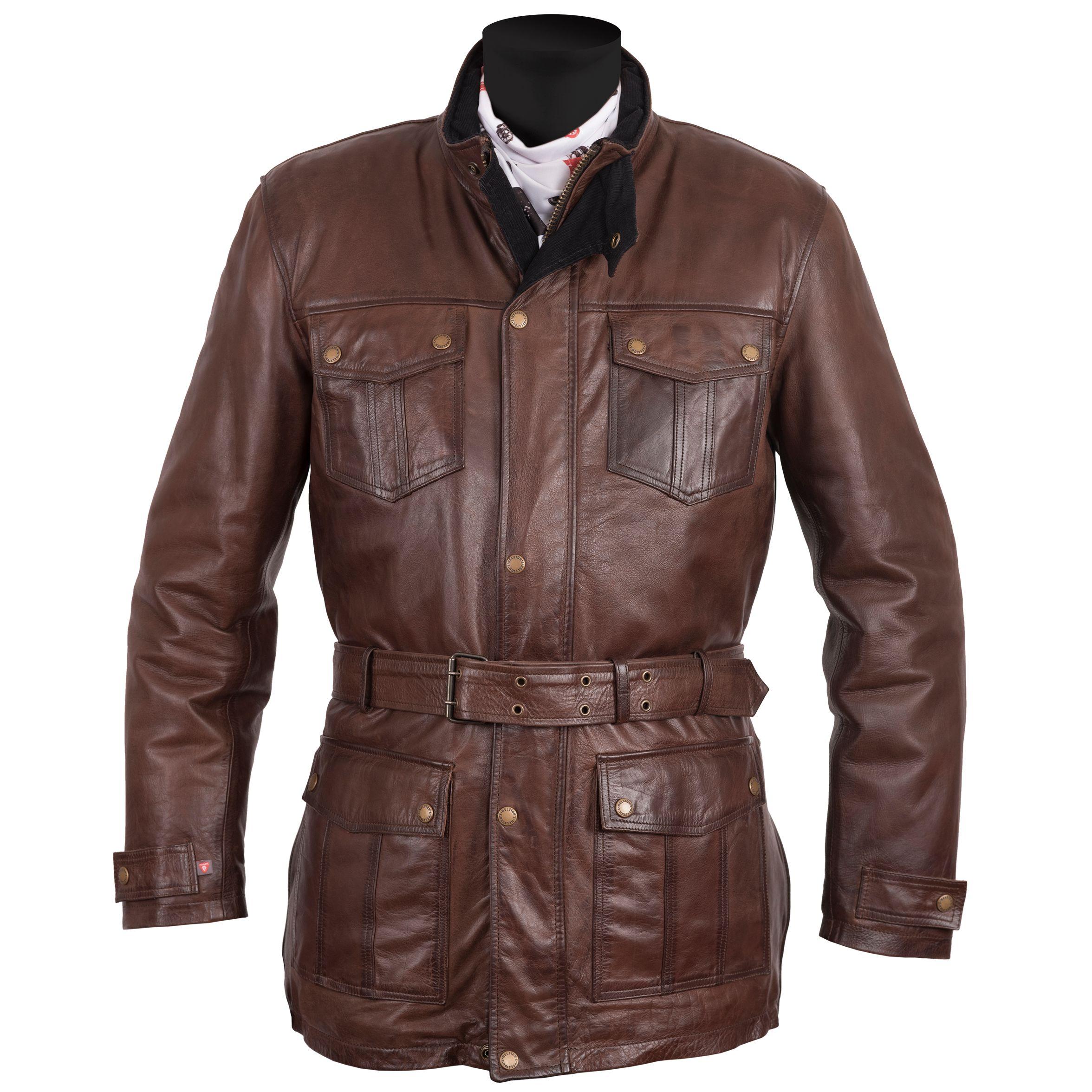 Chaqueta Helstons BRITT - cuero Antik - Cazadoras y chaquetas moto ... 4d2a47c1f0a