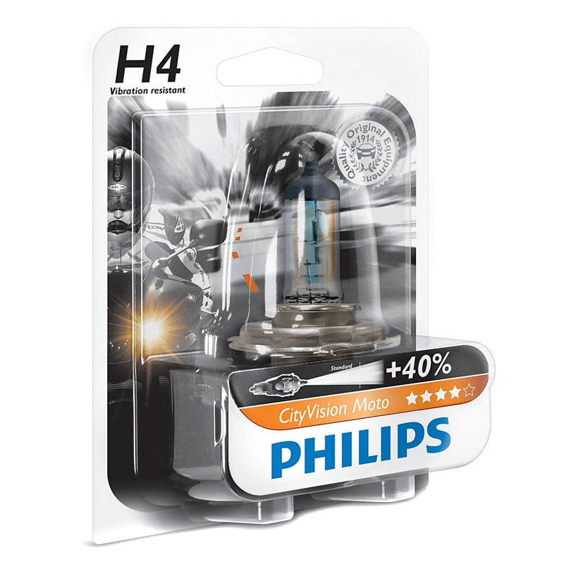Bombilla Philips CITY VISION H4 12V 60/65W P43T-38