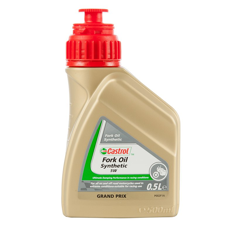Aceite de horquilla Castrol SYNTHETIC FORK OIL 5W 500 ML