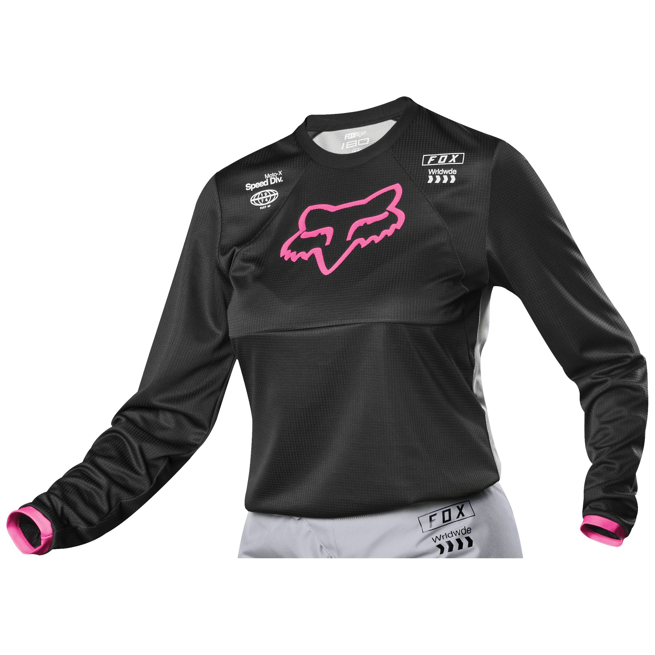 Camiseta de motocross Fox WOMEN 180 - MATA - BLACK PINK 2019 ... dd5a8a83c68