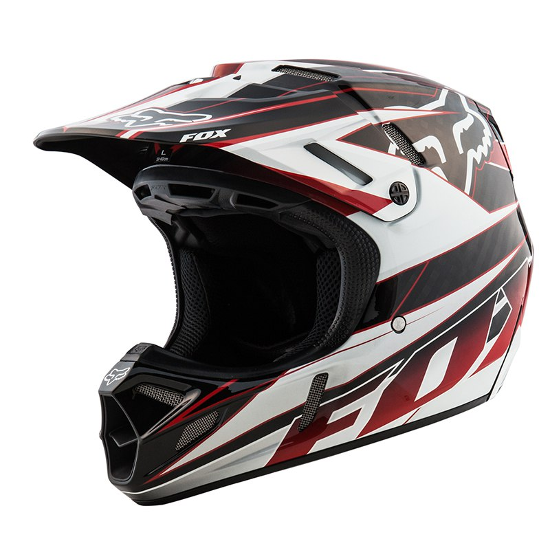 Casco de motocross Fox outlet V4 RACE BLACK/RED 2015