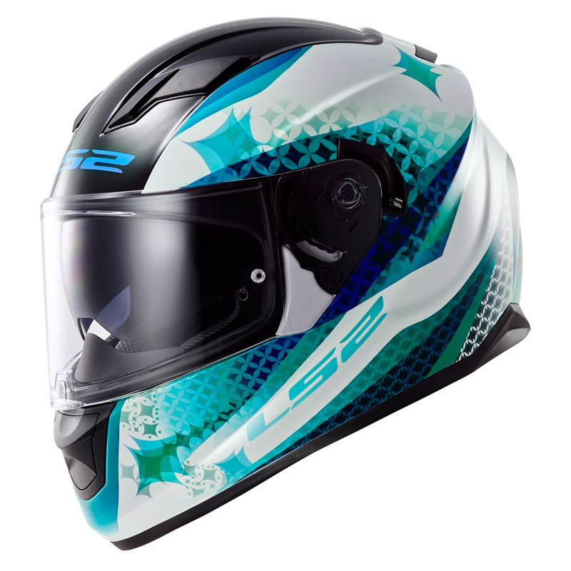Casco LS2 DESTOCKAGE STREAM LUX - FF 320 BLANC BLEU