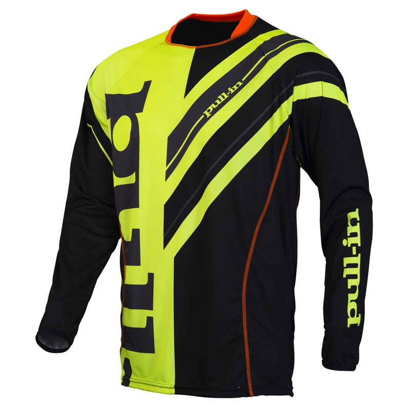 Camiseta de motocross Pull-in outlet FRENCHY  - AMARILLO FLÚOR/NEGRO 2016
