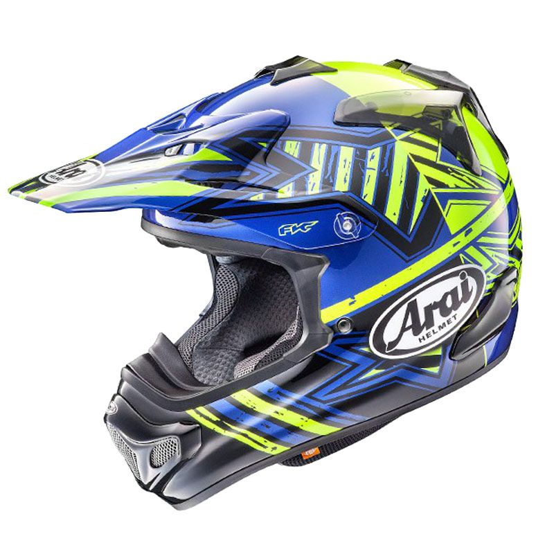 casco de motocross arai mx v star yellow 2018 cascos motocross. Black Bedroom Furniture Sets. Home Design Ideas
