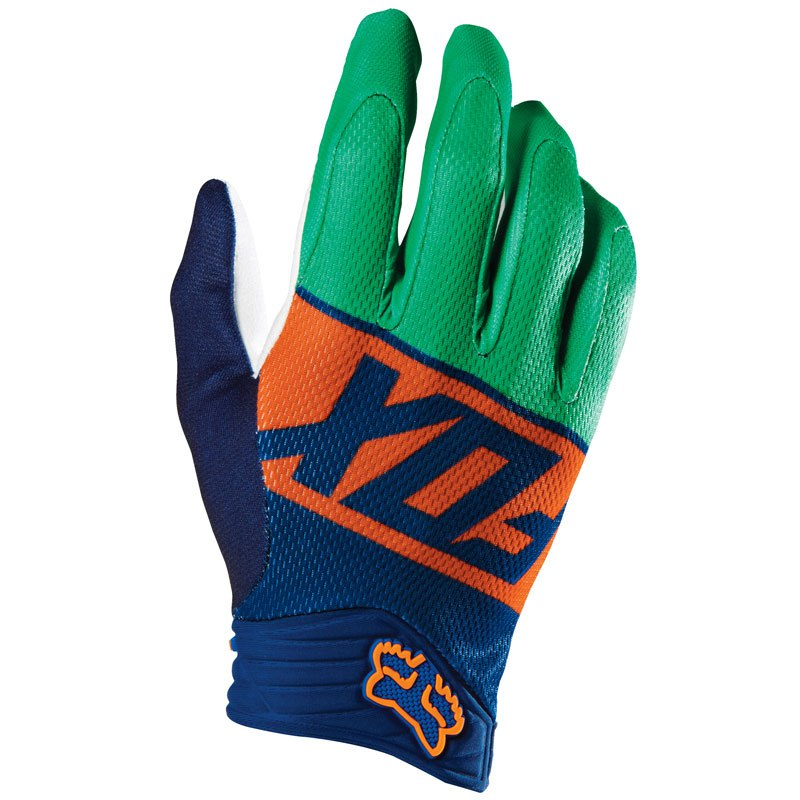 Guantes de motocross Fox outlet DIVIZION AIRLINE GLOVE ORANGE/BLUE  2016