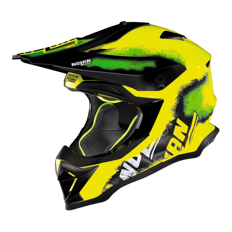 Casco de motocross Nolan N53 LAZY BOY LED YELLOW 2017
