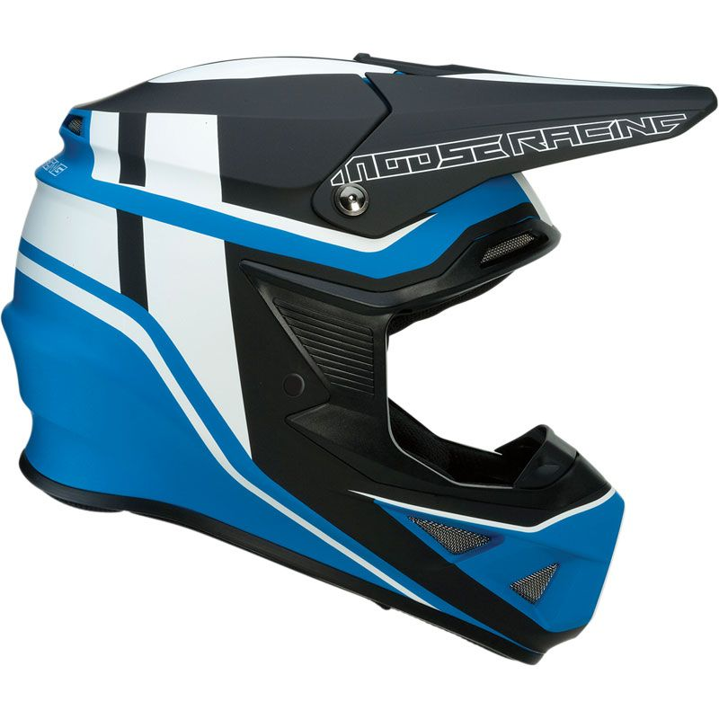 Casco de motocross Moose Racing F.I SESSION NEGRO/AZUL 2019