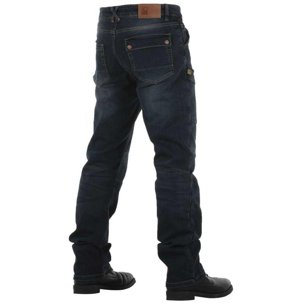 Pantalones protectores de cuero Sturgis para moto con certificaci/ón CE