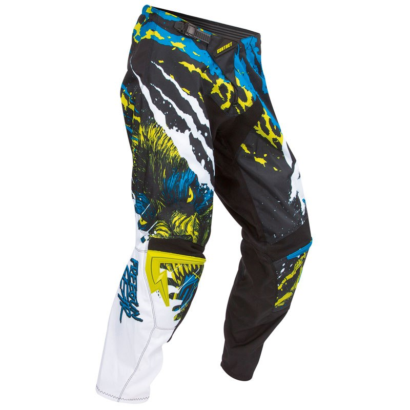 Pantalón de motocross Shot outlet CONTACT BEAST PANT LIMA AZUL  2016
