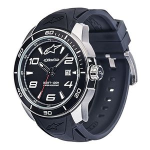 TECH 3H - STEEL - SILICON STRAP BLACK/STEEL