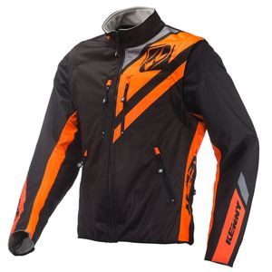 SOFTSHELL ENDURO BLACK NEON ORANGE