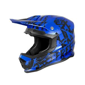XP-4 - MANIAC - BLUE CHROME BLACK GLOSSY