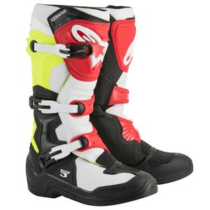 TECH 3 BLACK WHITE YELLOW FLUO RED 2018
