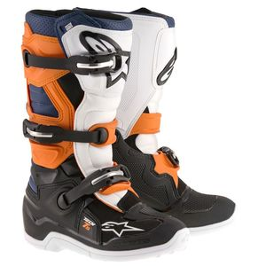 TECH 7S BLACK ORANGE WHITE BLUE ENFANT