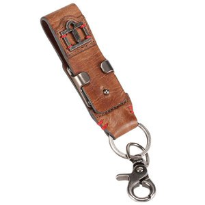 LEATHER BELT LOOP KEYCHAIN