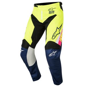 RACER SUPERMATIC WHITE DARK BLUE YELLOW FLUO NIÑO 2018