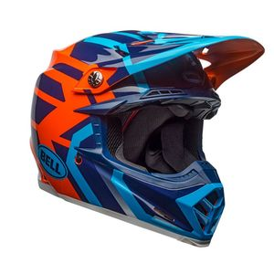 MOTO-9 MIPS DISTRICT AZUL/NARANJA