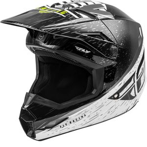 KINETIC K120 BLACK WHITE HI-VIS NIÑO