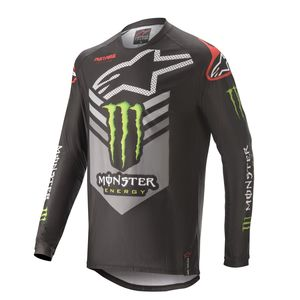 RACER GEAR - MONSTER - BLACK BRIGHT GREEN RED