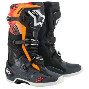 TECH 10 - BLACK GRAY ORANGE RED FLUO