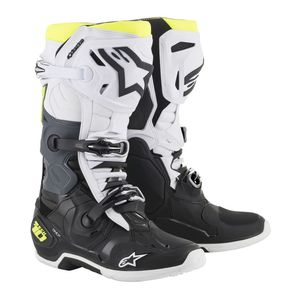 TECH 10 BLACK WHITE YELLOW FLUO