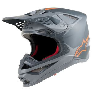 SUPERTECH S-M10 META ANTHRACITE GRAY ORANGE FLUO