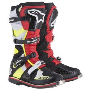 TECH 8 RS BLACK RED YELLOW FLUO WHITE